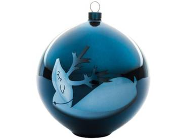 Alessi AAA07 3 Blue Christmas Décoration de Sapin, Verre, Transparent, 10 x 10 x 10,7 cm