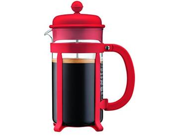 Bodum 1908-294  - Java - Cafetière à Piston 8 Tasses - 1.0 L - Rouge