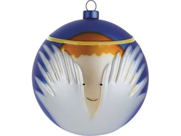 Alessi Amj13 6 Angioletto Boule de Noël en Verre Soufflé, decorée à la Main