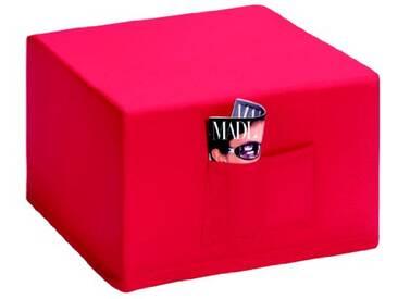 Badenia Bettcomfort 03610114502 Madrid Fauteuil dappoint avec housse rouge 6 pièces Bleu foncé