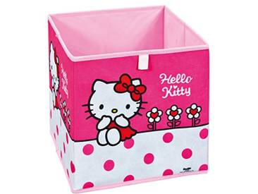 Interlink 99200454 Hello Kitty Flower Banc de Rangement Plastique Rose/Blanc 32 x 32 x 32 cm