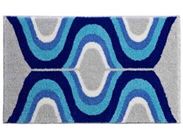 Grund Tapis de Bain Résine Acrylique, Bleu, 60 x 100 cm