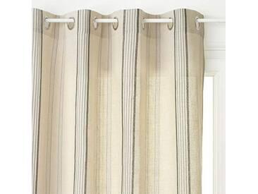 HomeMaison Rideau Esprit Maison de Campagne, Polyester, Lin, 260x140 cm