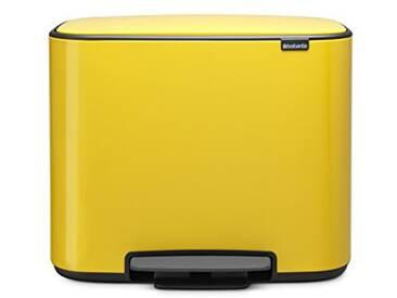 Brabantia - 121180 - Poubelle BO Pedal Bin, 11 + 23 litres, Jaune