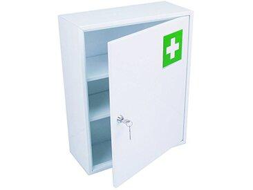 HEXOTOL Armoire A Pharmacie 1 Porte, Acier, Blanc, 36x15x45 cm