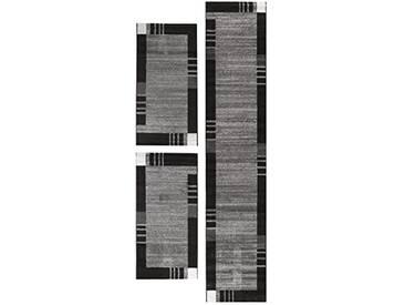 andiamo Frise grasse Web Tapis de Couloir, 100% polypropylène, Gris, 2X 67 x 140 cm 1x 67 x 340 cm