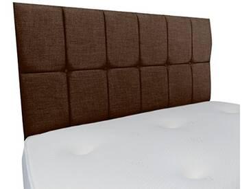 Interiors 2Combinaison U Nancy Parure de lit capitonnée, Tissu, Marron, 7.5x 90x 62cm