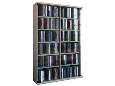 VCM Étagère Murale CD/DVD Zuntisa pour 300 CDs, Chêne Sonoma (Brut), 91,5 x 60 x 18 cm