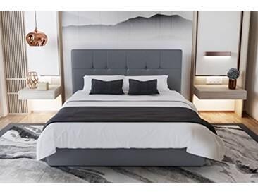Beds&Sofa Mahe Lit Coffre Couchage Silex 209 x 165 x 110 cm