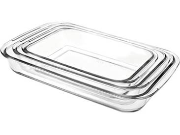 IBILI 480700 Lot de 3 Plats Ovales Plastique Transparent 40 x 23 x 5 cm