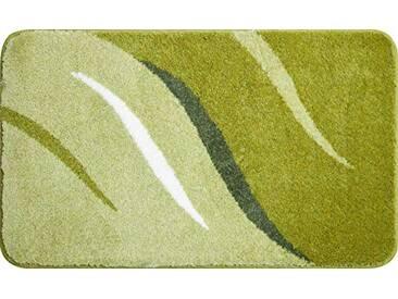 Grund Tapis de Bain 100% polyacrylique - Ultra Soft - Antidérapant - Aux Normes OekoTex, Wings - Grün, 60 x 100 cm