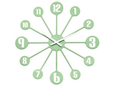 koziol horloge mural Pinball, thermoplastique, vert menthe, 3,2 x 45 x 45 cm