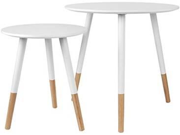 Leitmotiv Graceful Table MDF, Blanc, Taille Unique
