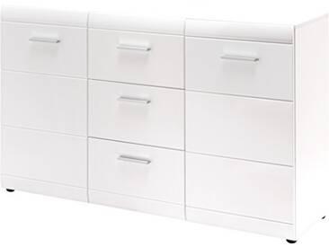 Germania Buffet 3580-84 GW-Adana coloris Blanc, avec façades brillantes, l/h/p env. 144/86/40 cm