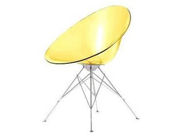 Kartell 4837E1 Chaise baquet Ero/S 4 pieds (Jaune)