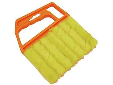 GARDINIA Brosse de nettoyage pour stores vénitiens - Plastique - 12 x 15 cm (LxH) - Jaune-orange