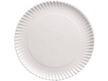 IBILI 728927 Plat Rond (5 Uds), Aluminium, Blanc, 27 cm