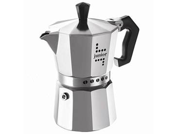Bialetti Junior Cafetière, 6 Tasses, Aluminium