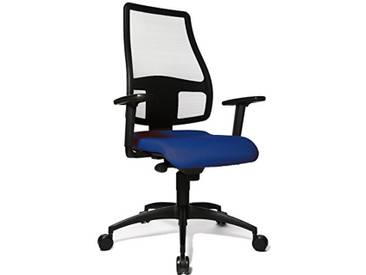 Topstar Syncro Net Chaise de Bureau avec Hauteur daccoudoirs Ajustable Bleu