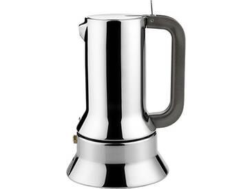 Alessi 9090/6 Cafetière Espresso en Acier Inoxydable 18/10 Brillant, Fond en Acier Magnétique Compatible avec la Cuisson Par Induction, 6 Tasses