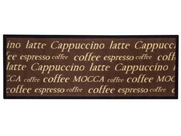 andiamo 1100336Tapis de Cuisine Cappuccino Cups Tapis Cuisine Tasses à café Oeko Tex, Marron 67x 180cm, 100% Polyamide, Moka, 250x67