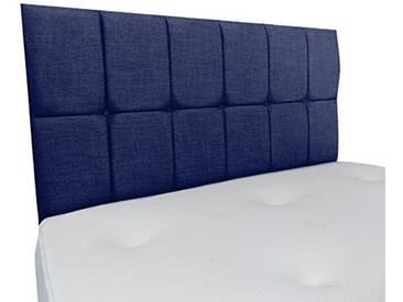 Interiors 2Combinaison U Nancy Parure de lit capitonnée, Tissu, Bleu Nuit, 7.5x 90x 62cm