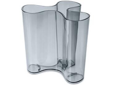 koziol vase Clara M, thermoplastique, anthracite transparent, 10,3 x 11,4 x 10,9 cm
