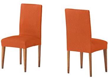 Martina Home Housse pour Chaise Housse de Chaise avec Dossier 24x30x6 cm Orange