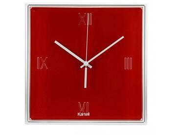 Kartell TIC&TAC Horloge, rouge orange