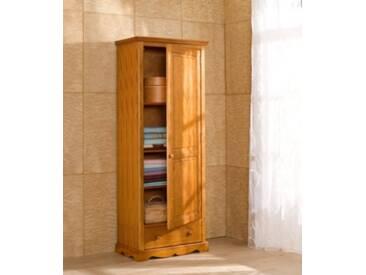 ACTUAL DIFFUSION Windsor Armoire-Bonnetière Pin Massif Miel, 42x70x186 cm