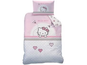 Hello Kitty Parure de lit, en Coton Rose, Drap de 100x135cm