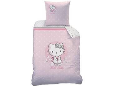 Hello Kitty 045244Cerisier Parure de lit, Coton, rose, 135x 200cm