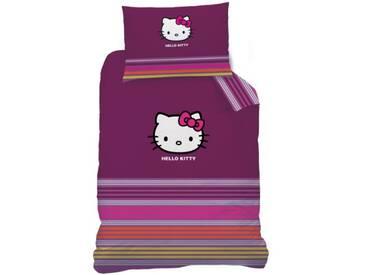 CTI 041146 Parure de lit en linon de coton avec housse de couette 140 x 200 cm et taie doreiller 70 x 90 cm Motif Hello Kitty Sarah