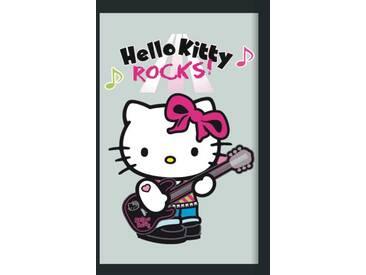 Empire Merchandising 538048 Miroir avec cadre plastique effet bois et Hello Kitty Rock 20 x 30 cm