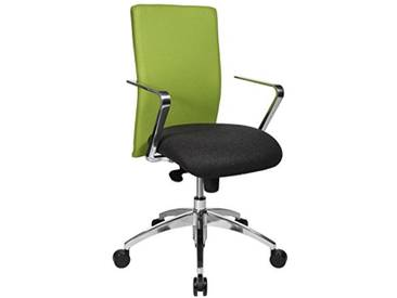 Topstar Chaise de Bureau Commander avec accoudoirs R2, Tissu, Anthracite/Vert, 55.0 x 56.0 x 111.0 cm