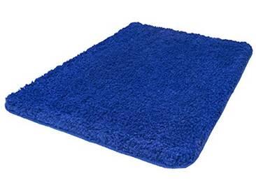 Kleine Wolke Textilgesellschaft 4035748556 Trend Tapis de Bain Bleu 100 x 60 x 0,35 cm
