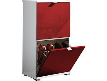 Kit meuble à chaussures 3 pièces Germania 8484-118 Colorado en blanc/rouge, 53 x 91 x 30 cm (LxHxP)