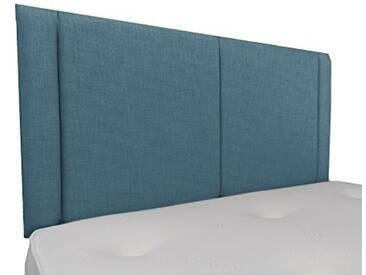 Interiors 2Combinaison U Robyn Parure de lit capitonnée, Tissu, Bleu Canard, 8x 135x 62cm