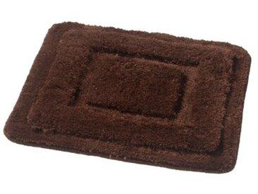 Ridder Juwel 7588080-350 Tapis de WC sans découpe 100 % microfibres de polyester Marron 55 x 50 cm
