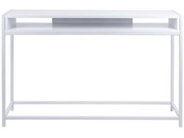 Leitmotiv Fushion Console Acier, Blanc, Taille Unique