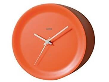 Alessi Ora Out Horloge sur arête en résine thermoplastique 21x21x15 cm Arancione