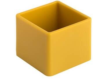 Geelli GFU-CUB-C25 Fusto Cubo Polyurethane, Mustard, 10x10x8 cm
