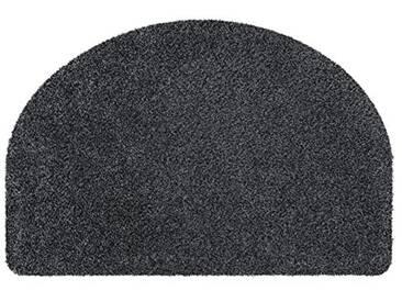 andiamo Fußmatte halbrund waschbar Samson Uni rutschhemmender Rücken Fußabtreter Türmatte, Coton, Anthracite, 50x75 cm