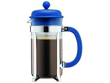 BODUM - 1918-979B-Y18 - Caffettiera - Cafetière à Piston 8 Tasses – 1.0 l - Bleu Denim