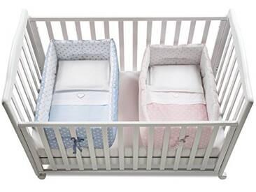 Italbaby Gemmy Pois Réducteur de lit bébé, Bleu Clair/Rose, Multicolore, Taille Unique