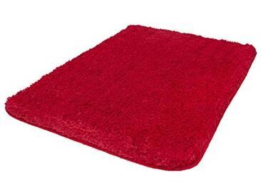 Kleine Wolke Textilgesellschaft 4035439556 Trend Tapis de Bain Rouge 100 x 60 x 0,35 cm