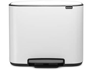 Brabantia - 121005 - Poubelle Bo Pedal Bin, 3 x 11 litres, Blanc
