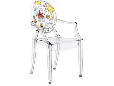 Kartell Lou Ghost Chaise, 2.7x 37x 63cm
