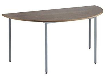 Eliza Tinsley Furniture Mod/ANNÉES 1600/GW 1600mm Semi Circulaire en Noyer Table Versa avec Cadre Marteau Gris