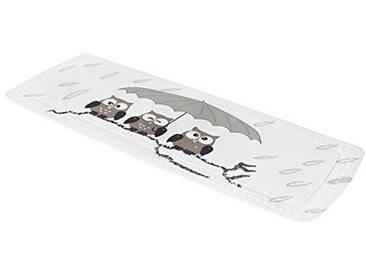Kleine Wolke 5370271001 Tapis de baignoire Taupe à motif chouette 36 x 92 cm